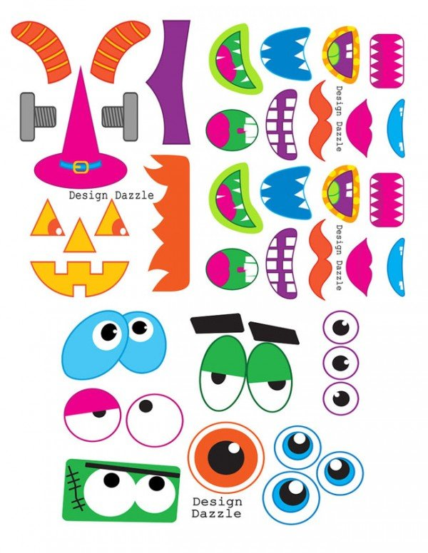 Use these fun (and free!!) monster face printables for great photo ...