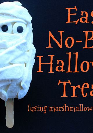 Easy No-Bake Halloween Mummy Treat (Using Snack Cakes!)