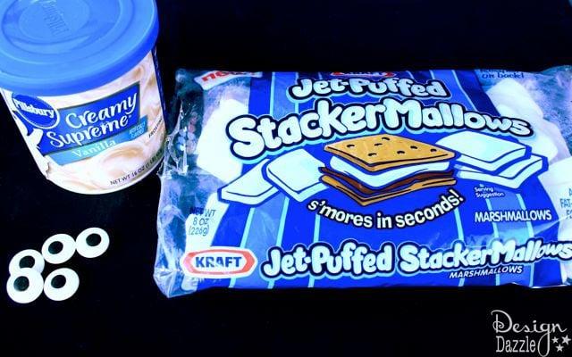 Mummy Halloween snack cake supplies - Design Dazzle