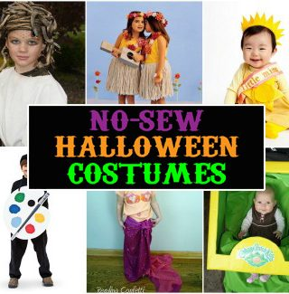 No-Sew Kids Halloween Costumes