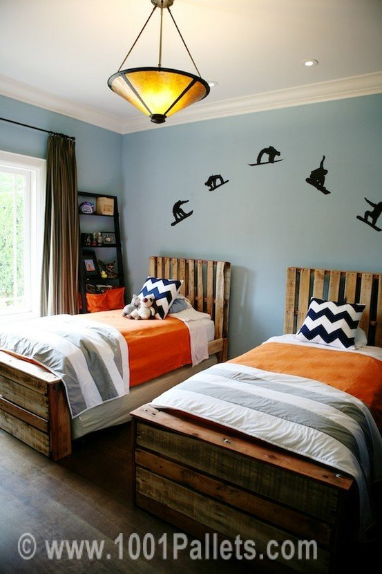 pallet beds for teen boys