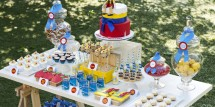 pinocchio party dessert table