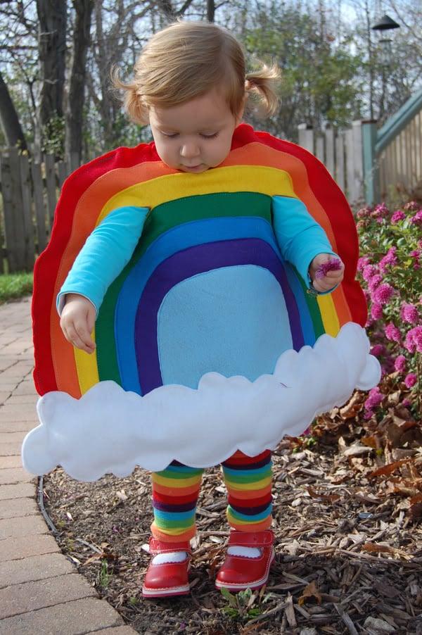 DIY kids Halloween Costumes including Little Miss Rainbow - Design Dazzle