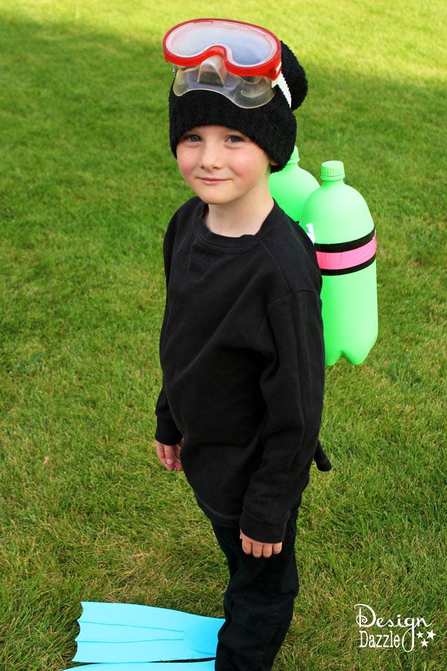 Make it yourself scuba diver halloween costume - Design Dazzle