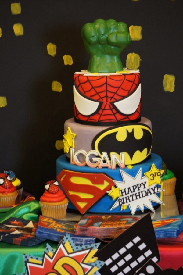 Marvel And Dc St Birthday Cakes