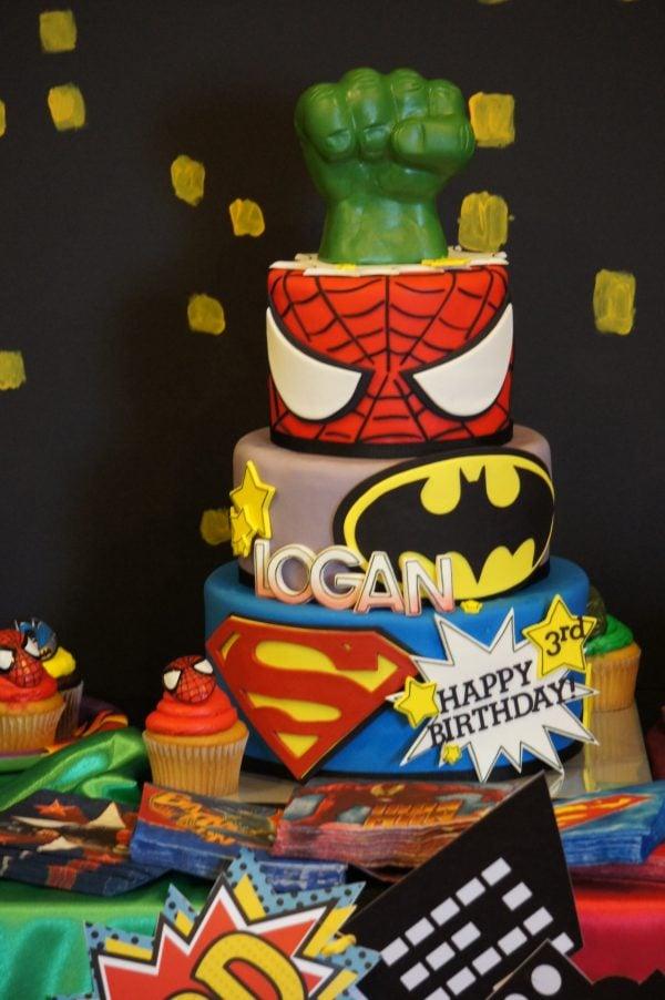 Cool Superhero Birthday Cakes
