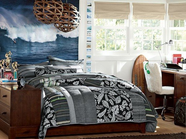 Teen boys room ideas design dazzle for Surfers bedroom design