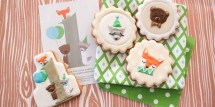 woodland wonder invitation and cookies