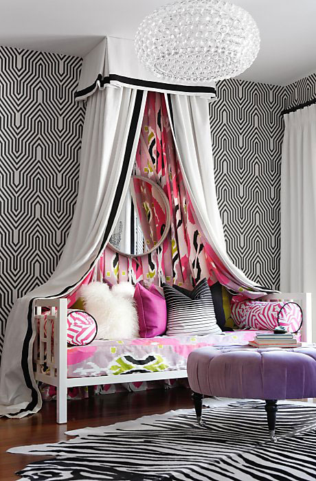 Teen Girls Black And White Bedroom Design Dazzle