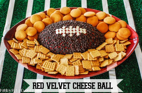 football red velvet cheese ball