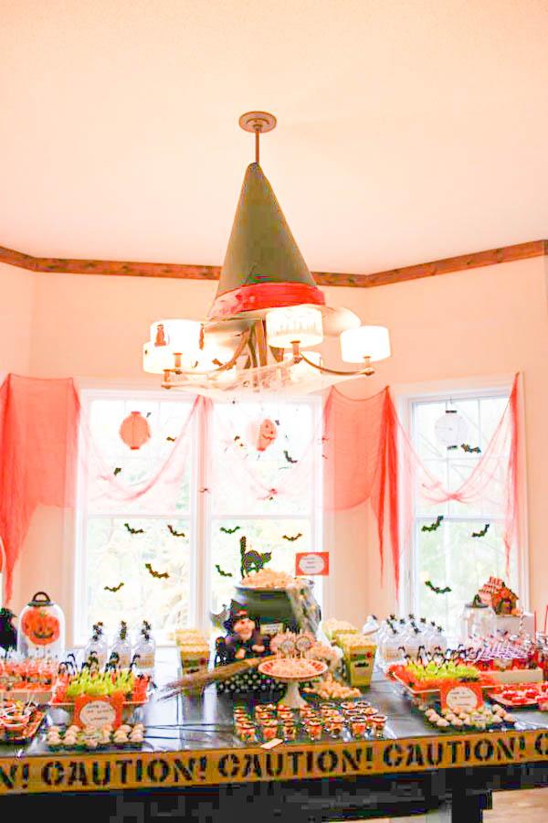 halloween birthday party area
