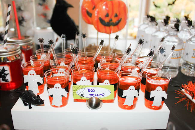 """Halloween """"BOO"""" Jello! Perfect for a Halloween party!"""