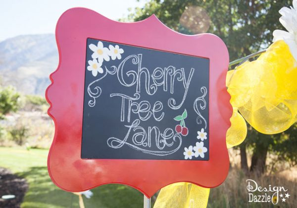 Mary Poppins Cherry Tree Lane Sign - Design Dazzle