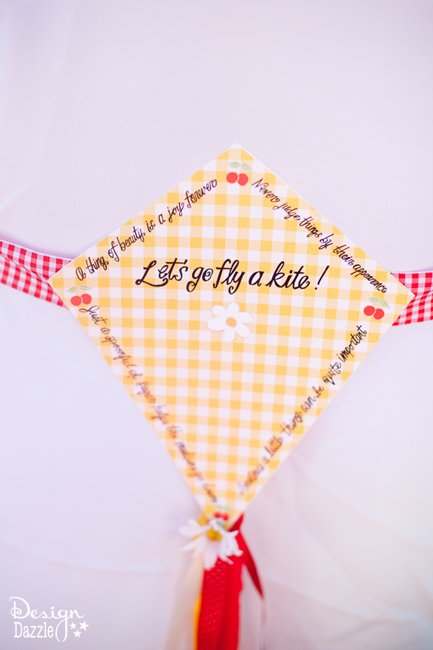 Let's go fly a kite! Mary Poppins chair tieback. Printables available at Design Dazzle!