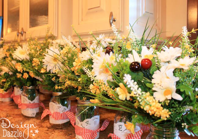 Mary Poppins Daisy Centerpieces  - Design Dazzle