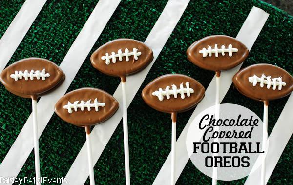 chocolate covered football oreos