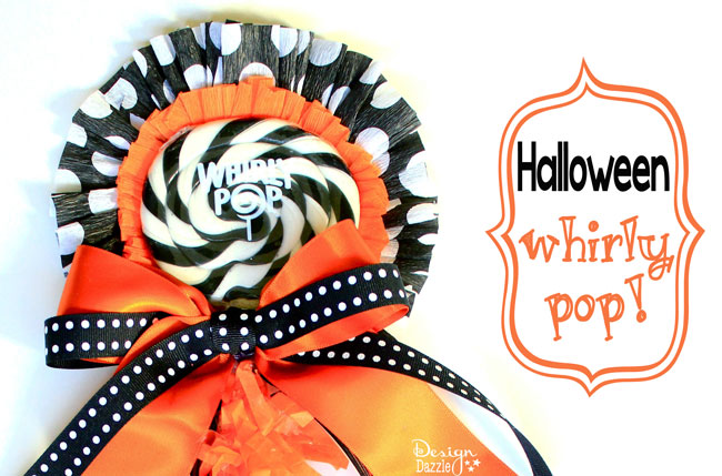 How to make a Halloween Whirly Pop. Cute idea for a gift or decoration ---Design-Dazzle