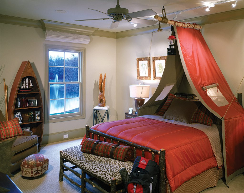 camping theme room design dazzle. Black Bedroom Furniture Sets. Home Design Ideas
