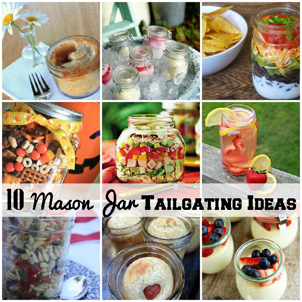 mason jar football food ideas