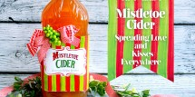 mistletoe Cider printable for neighbor gift - Design Dazzle