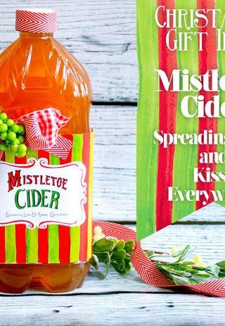Homemade Christmas Gifts: Mistletoe Cider & Free Printable