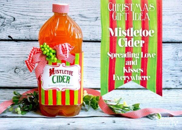 mistletoe Cider printable for neighbor gift - Design Dazzle
