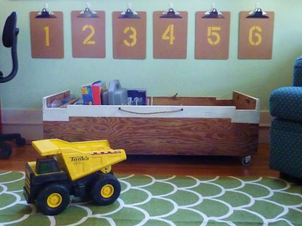 modern vintage little guys storage cart