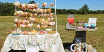 pumpkin princess party tables