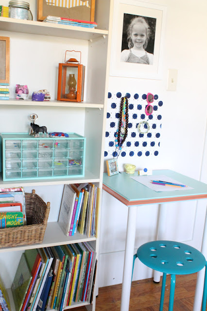 fascinating and cute kids desks ikea with purple paint | Shared Girls Room - Design Dazzle
