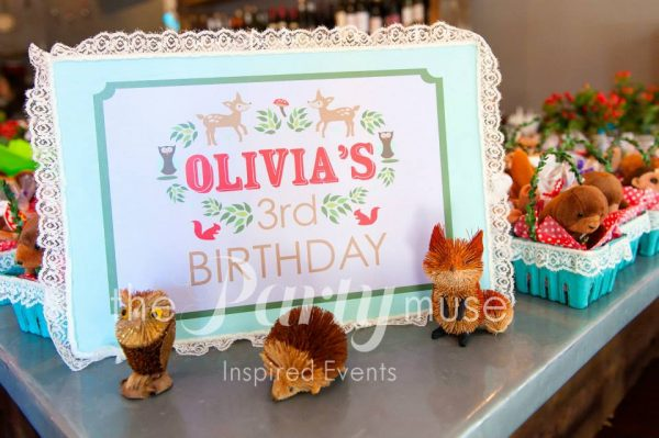 woodland party favors for kids