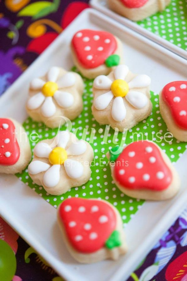 woodland wonderland birthday cookies