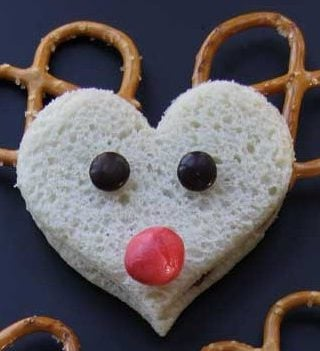 Rudolph The Red Nosed Reindeer Sandwiches!