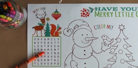 Christmas Activity Placemat