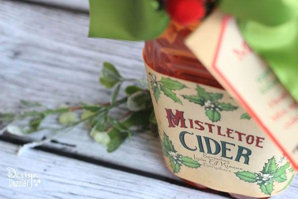 Christmas Gift Idea: Mistletoe Cider Printables - Design Dazzle