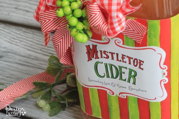 Bright & Cheery Mistletoe Cider Label- Design Dazle