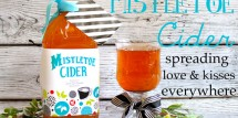 mistletoe cider neighbor gift