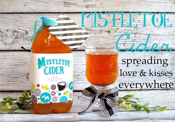mistletoe cider neighbor gift