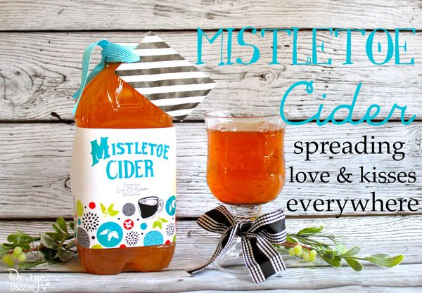 Mistletoe cider neighbor gift idea with free printables!