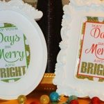 Merry and Bright Glittery Free Prints