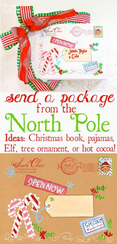North Pole Mailing Label