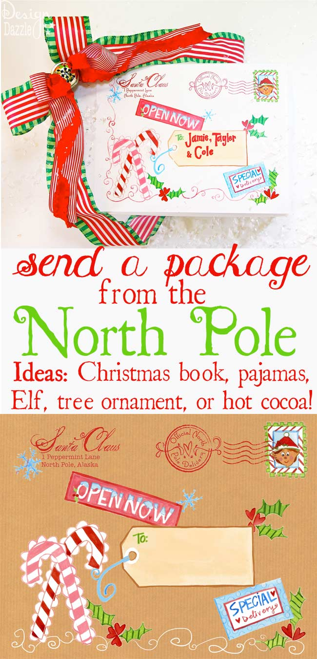 North Pole Mailing Label on Design Dazzle