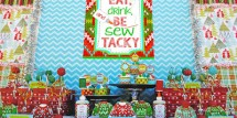 Sew Tacky Holiday Party Ugly Sweater Party Dessert Table Gwynn Wasson