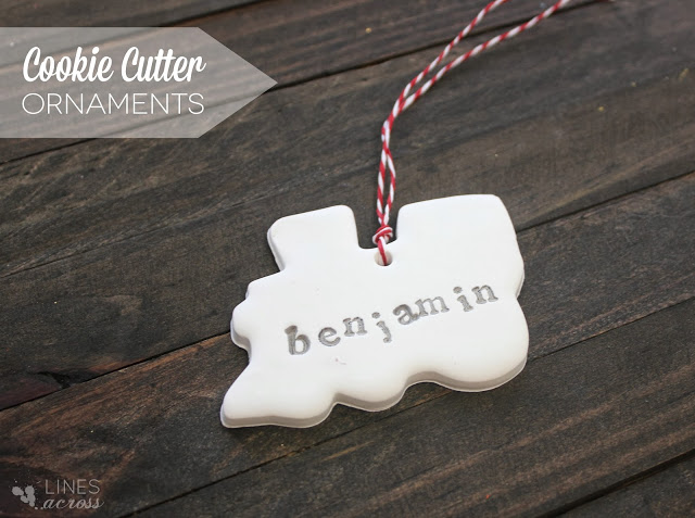 Cookie cutter clay ornaments