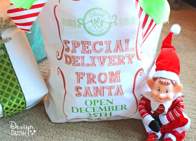 Santa Sack: Special Delivery From Santa Open Dec 25th! Have your elf help out and deliver the kids Santa Sack!  Design Dazzle