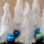 Elegant Feather Christmas Trees