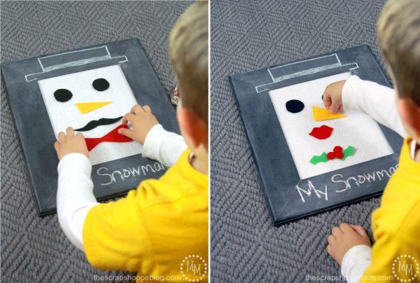 framed-felt-snowman