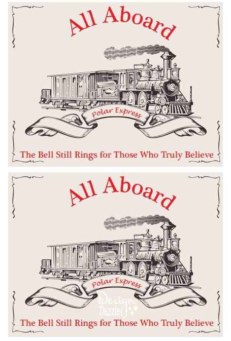 Free Polar Express Train Printable. Perfect for a Polar Express Pajama ...