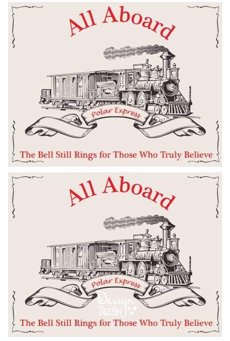 Free Polar Express Train Printable. Perfect for a Polar Express Pajama Party - Design Dazzle