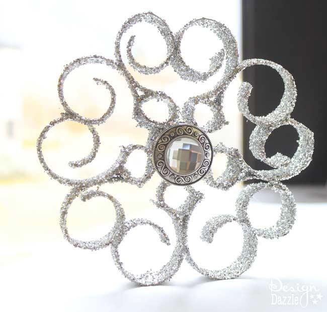 glitter cardboard ornament - Design Dazzle