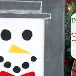 Interactive Felt Snowman Face